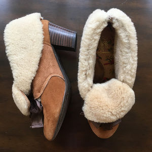 Anthropologie Shoes - Anthropologie Miss L Fire Suede Shearling Shoes